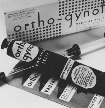 Antike Verhuetungsmittel Ortho Gynol mit Verpackung