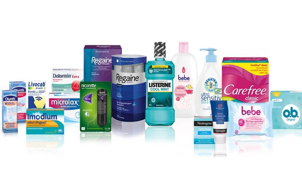 Portfolio verschiedner Hygien- und Medizinischen Artikeln